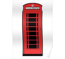 British Red Phone Box Poster