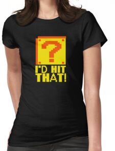 I'd Hit That Question Mark Video Game Geek Nerd Gamer Funny Humor Womens Fitted T-Shirt