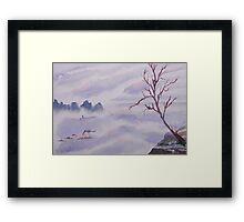 The Foggy Snake  Framed Print