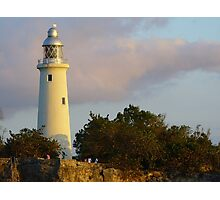 sunset on Negril lighthouse  Photographic Print