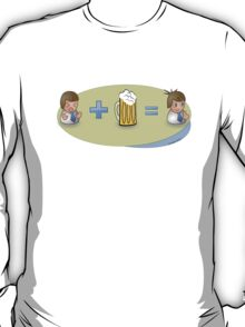 Sad + Beer = Awesome T-Shirt