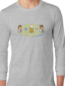 Sad + Beer = Awesome Long Sleeve T-Shirt