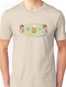 Sad + Beer = Awesome Unisex T-Shirt