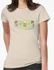 Sad + Beer = Awesome Womens Fitted T-Shirt