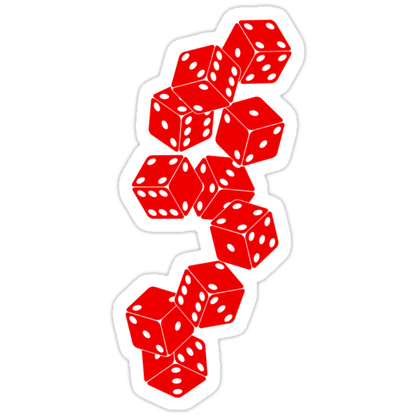 White Red Dice by lomm