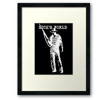 Mick's World Framed Print