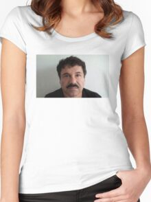 EL CHAPO | MUGSHOT Women's Fitted Scoop T-Shirt