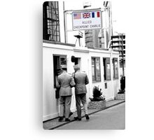 Cold War Berlin, Checkpoint Charlie Canvas Print