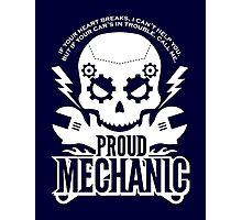 Mens Funny Proud Mechanic Graphic T shirt Photographic Print