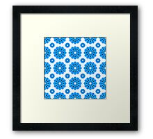 "Retro 1970s Geometric Print ""Flowers 2""  Framed Print"