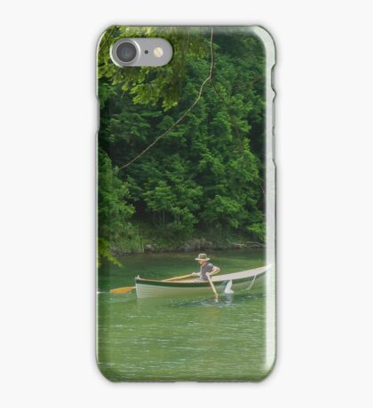 St. Lawrence River Guide Boat in Lover's Lane iPhone Case/Skin