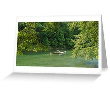 St. Lawrence River Guide Boat in Lover's Lane Greeting Card