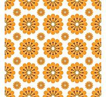 "Retro 1970s Geometric Print ""Flowers 1""  Photographic Print"