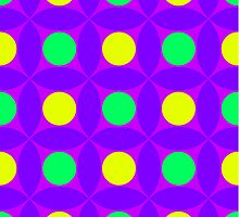 "Retro 1970s Geometric Print ""Circles 4""  by Fotopia"