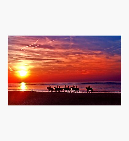 Riding into the sunset Photographic Print