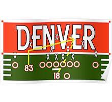 Denver Touchdown Poster