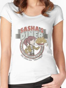 Sasha's Diner Women's Fitted Scoop T-Shirt