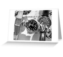 Time waits for no man Greeting Card