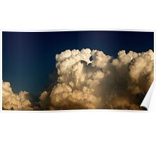 CUMULUS CLOUDS IN HIGH CONTRAST Poster