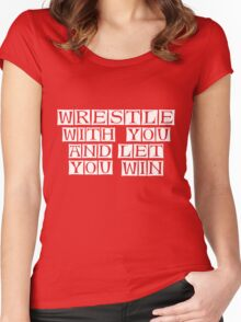 you win  Women's Fitted Scoop T-Shirt