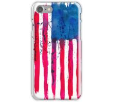 Watercolor Flag of the USA vertical iPhone Case/Skin