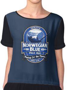 Norwegian Blue Pale Ale Chiffon Top