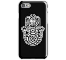 Black And White Hamsa iPhone Case/Skin