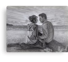 Castle and Beckett - Honeymoon Metal Print