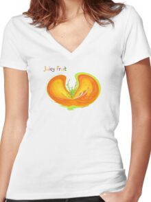 Juicy Fruit  Women's Fitted V-Neck T-Shirt