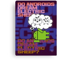 do androids dream electric sheep?  Canvas Print