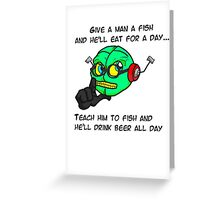 Philosobot Greeting Card