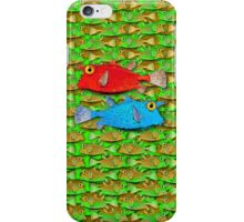 red fish - blue fish iPhone Case/Skin