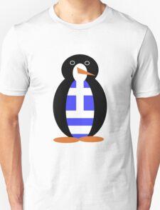 Greek Penguin Flag Unisex T-Shirt