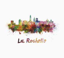 La Rochelle skyline in watercolor Kids Tee