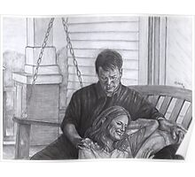 Castle and Beckett - Relax on the porch swing Poster