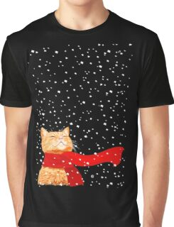 Snow Cat Graphic T-Shirt