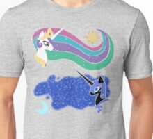 Princess Celestia and Nightmare Moon Unisex T-Shirt