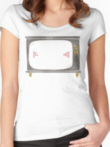Vintage Beer Pong Women's Fitted Scoop T-Shirt