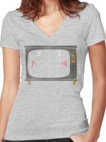 Vintage Beer Pong Women's Fitted V-Neck T-Shirt