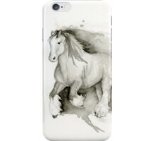 Running Clydesdale iPhone Case/Skin