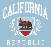 California Flag Crest (vintage distressed design) One Piece - Short Sleeve