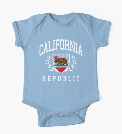 California Flag Crest (vintage distressed design) One Piece - Short Sleeve