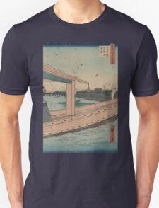 Distant view of Kinryuzan Temple and Azuma Bridge - Hiroshige Ando - 1857 Unisex T-Shirt