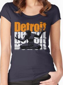 Vintage 1980s DETROIT (Distressed Design) Women's Fitted Scoop T-Shirt