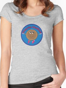 Charlie Waffles! Women's Fitted Scoop T-Shirt