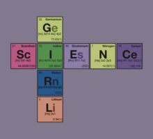 SCIENCE GIRL! - Periodic Elements Scramble Kids Tee
