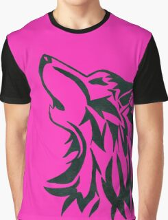 pink wolf Graphic T-Shirt