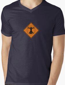 vitruvian man Mens V-Neck T-Shirt