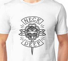 Neck Deep // floral knife (black) Unisex T-Shirt