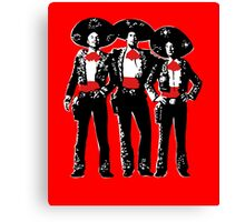 Three Amigos - Pop Art on Red Canvas Print